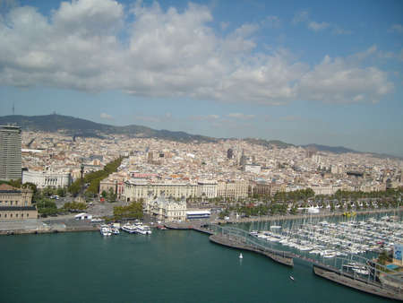 marge: Olympic Port in Barcelona Spain Stock Photo