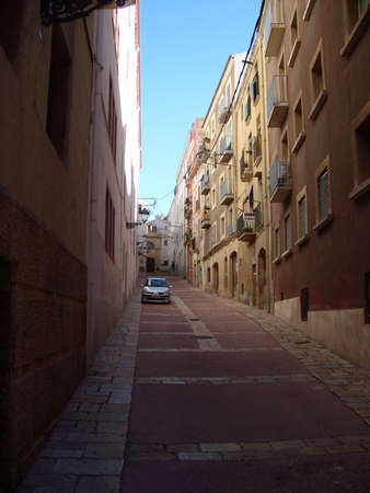 enginery: Barselonv city street in Spain Editorial
