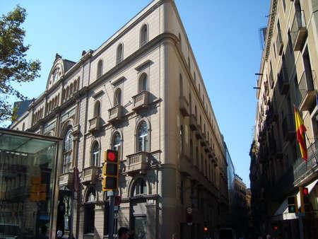 enginery: Barselonv city street in Spain Stock Photo