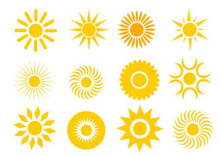 Zon en zomer Stock Illustratie