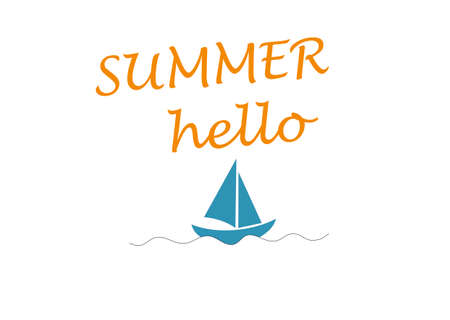 Summer sea and boat Vector