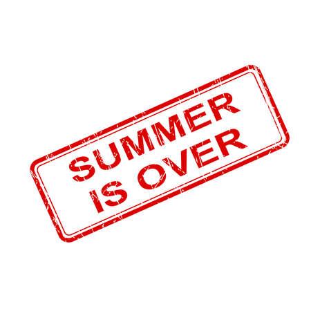 finished: Seal summer finished vector Illustration