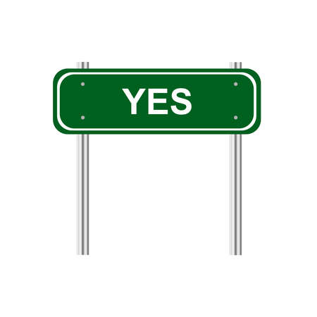 dignity: Sign yes Illustration