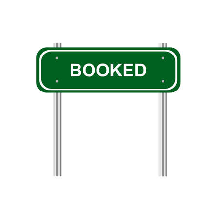 booked: Sign booked Illustration