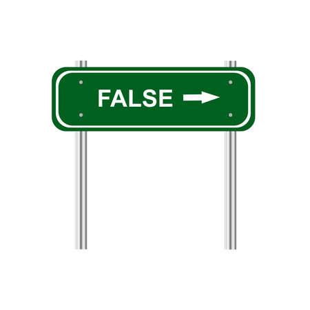 false: Sign false