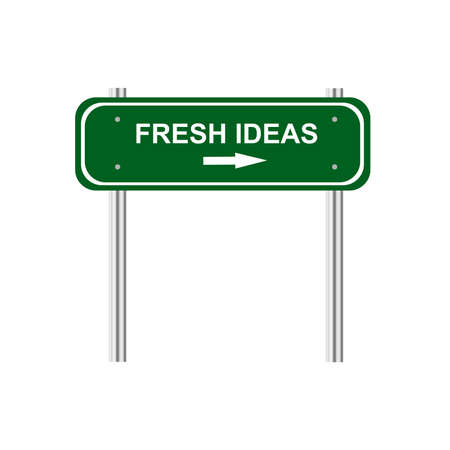 traffic pole: Sign fresh idea Illustration