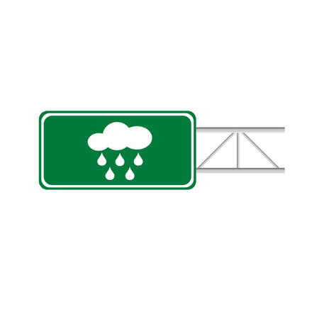 highway sign: Sign cloud and rain