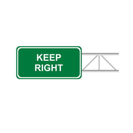 green sign: