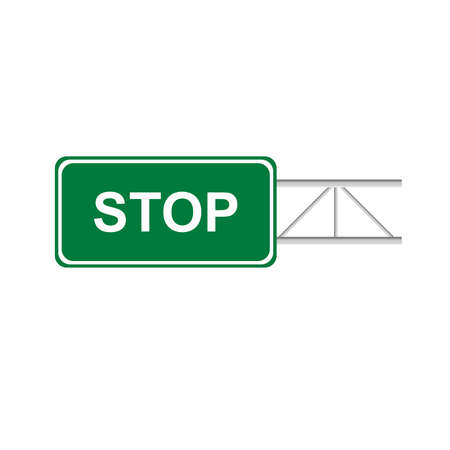 guide board: Green sign stop