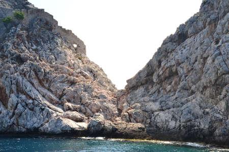paisaje mediterraneo: Marina Paisaje mediterr�neo y piedras y rocas