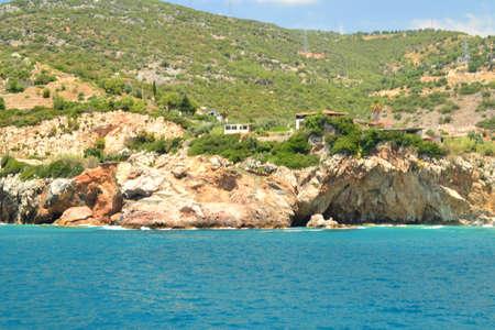 paisaje mediterraneo: Marina Paisaje mediterráneo y piedras y rocas