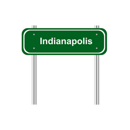 traffic pole: Green sign road Indianapolis
