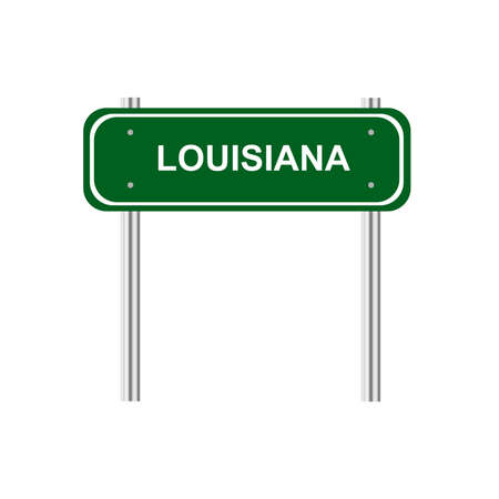 green road: Green road sign US state Louisiana