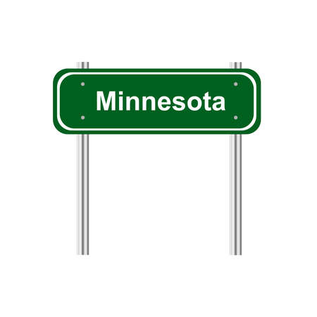 green road: Green road sign US state Minnesota