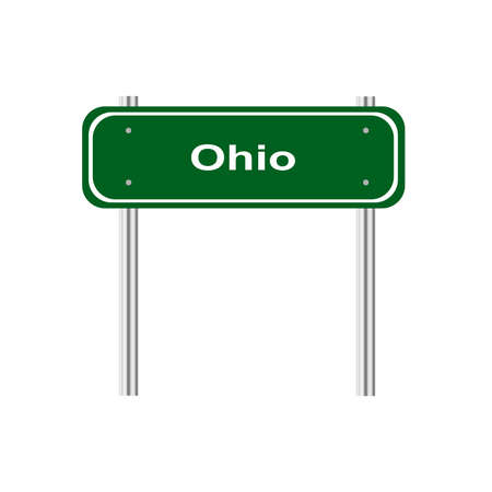 green road: Green road sign US state Ohio