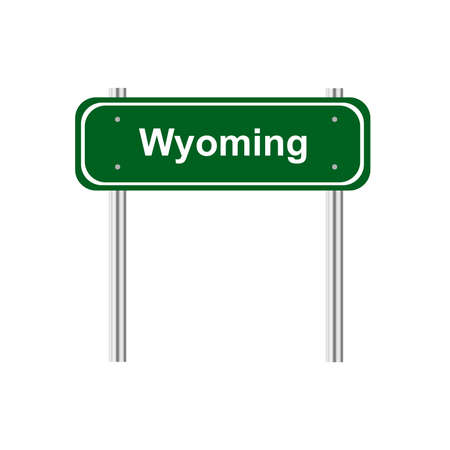 green road: Green road sign US state Wyoming