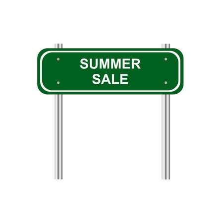 green road: Green road sign Summer sale