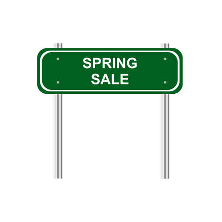green road: Green road sign spring sale