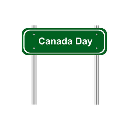 green road: Green road sign celebration Canada Day