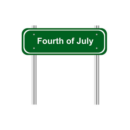 green road: Green road sign celebration Fourth of July