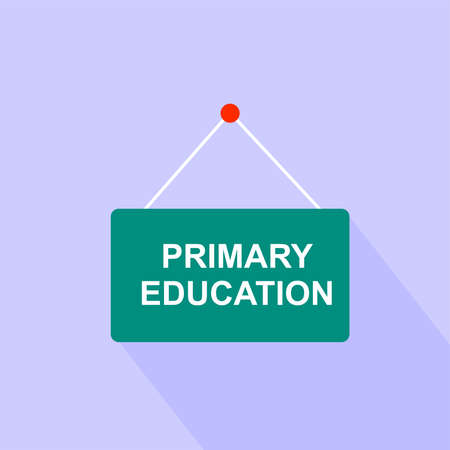 primary education: Sign banner primary education