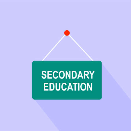secondary: Sign banner secondary education