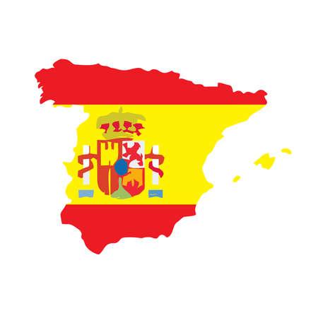 flag spain: Map flag Spain