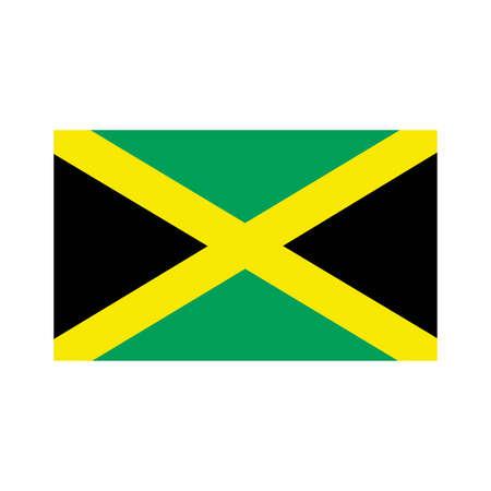 jamaica: A flag of Jamaica Illustration