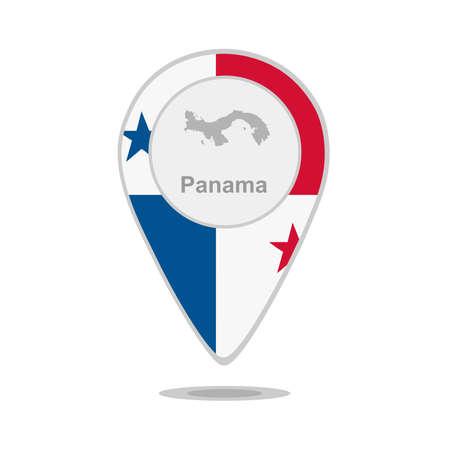bandera de panama: Un puntero con el mapa y la bandera de Panamá