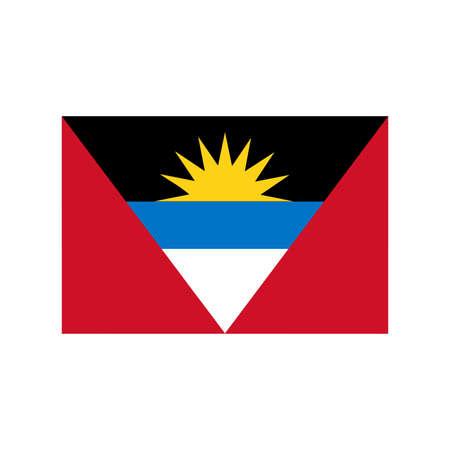 barbuda: A flag of Antigua and Barbuda Illustration