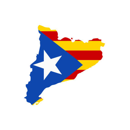 catalonia: A pointer wih map and flag of Catalonia