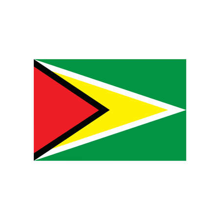 guyana: A flag of Guyana Illustration