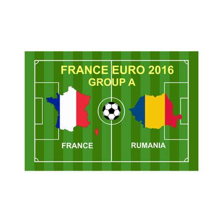 rumania: France euro 2016 Illustration