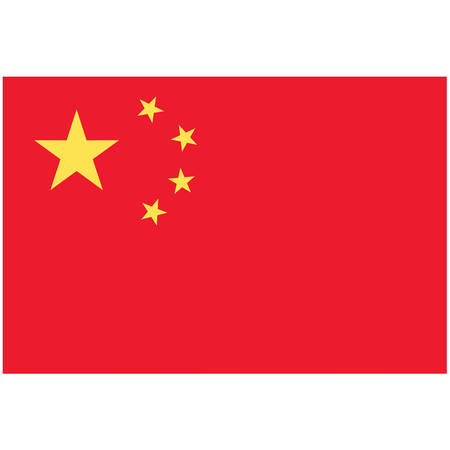 A flag of China