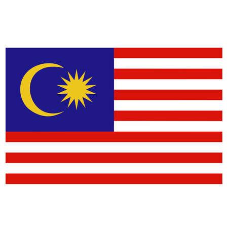 A flag of Malaysia Vetores