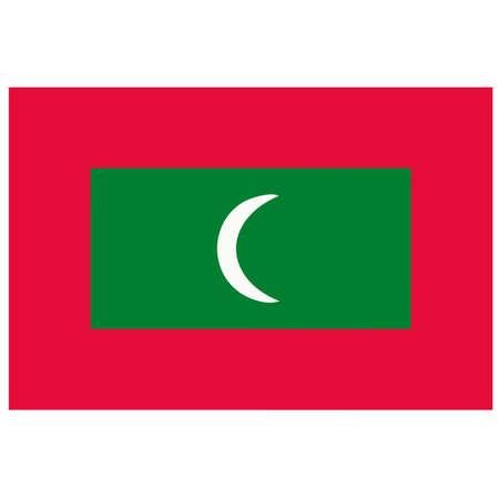 light maldives: A flag of Maldive Islands Illustration