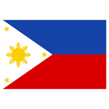 philippines: A flag of Philippines Illustration