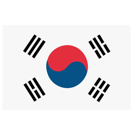dictatorship: A flag of South Korea Illustration