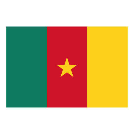 cameroon: A flag of Cameroon Illustration