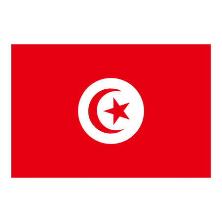 tunisia: A flag of Tunisia Illustration