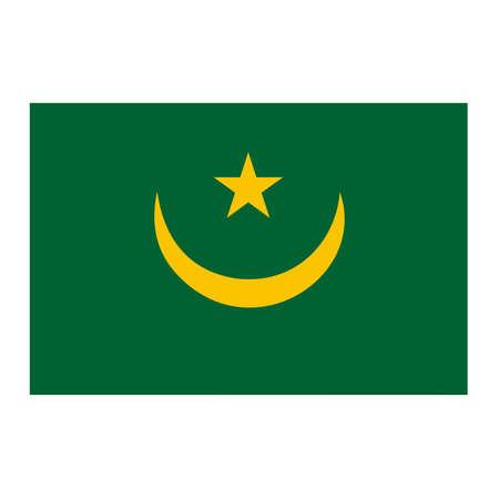 mauritania: A flag of Mauritania