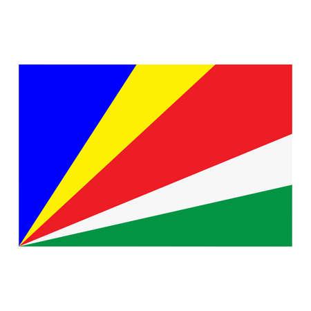 seychelles: A flag of Seychelles Illustration
