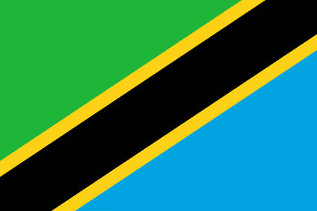 tanzania: A flag of Tanzania