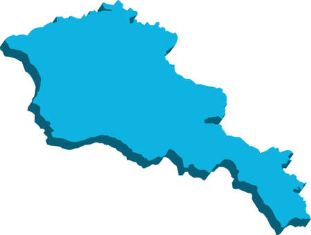 map of armenia: A map of Armenia 3D on white background Illustration