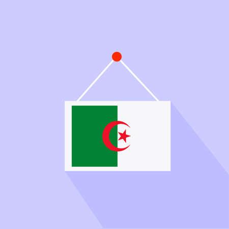 algeria: A flag of Algeria