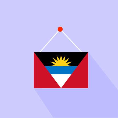 antigua and barbuda: A flag of Antigua and Barbuda Illustration