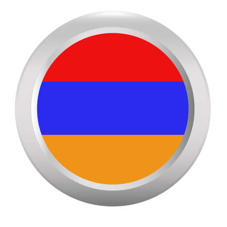 armenia: Button with flag of Armenia Illustration