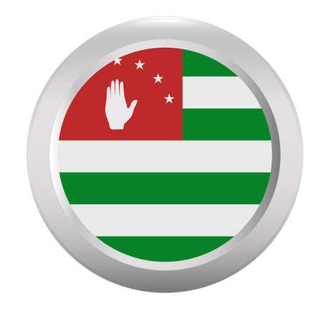 sukhumi: Button with flag of Abkhazia Illustration