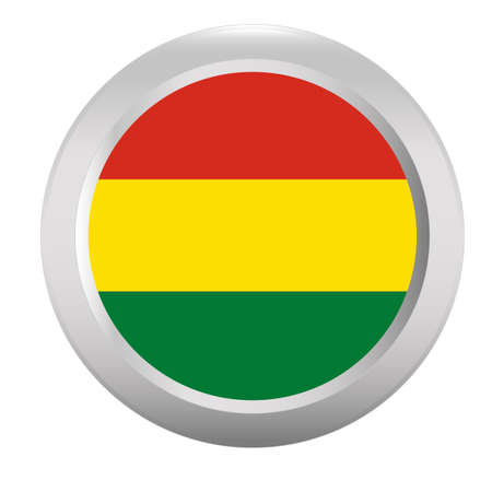 bolivia: Button with flag of Bolivia