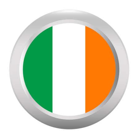 ireland flag: Button with flag of Ireland Illustration